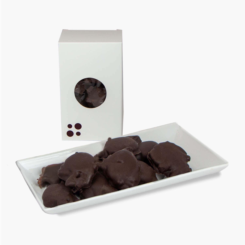 rochers au caramel et aux bretzels au chocolat noir