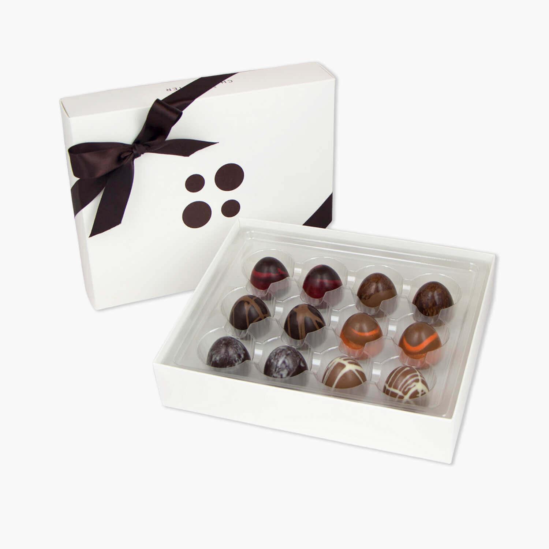box of 12 domes chocolates