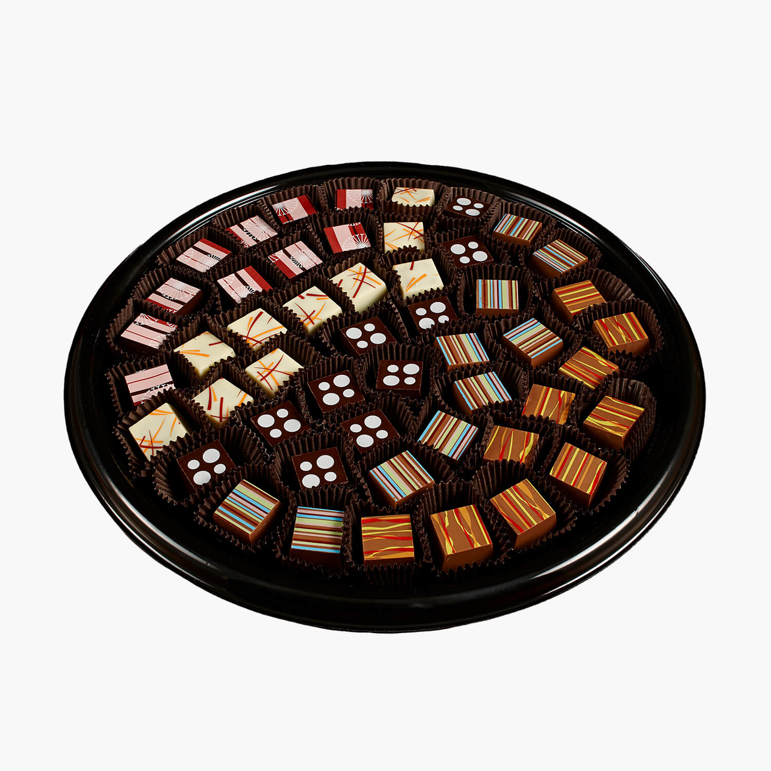 assorted mosaiques chocolates platter