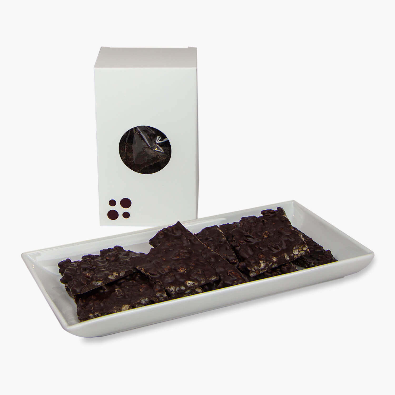 dark chocolate crispy mocha bark