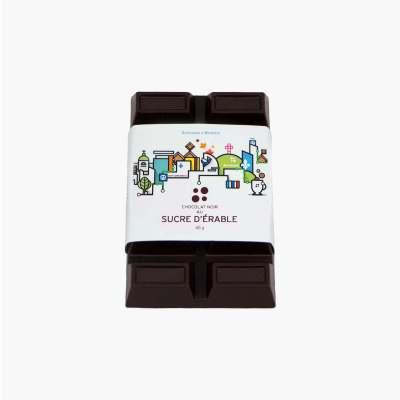 tablette noir au sucre d'érable - étiquette souvenir