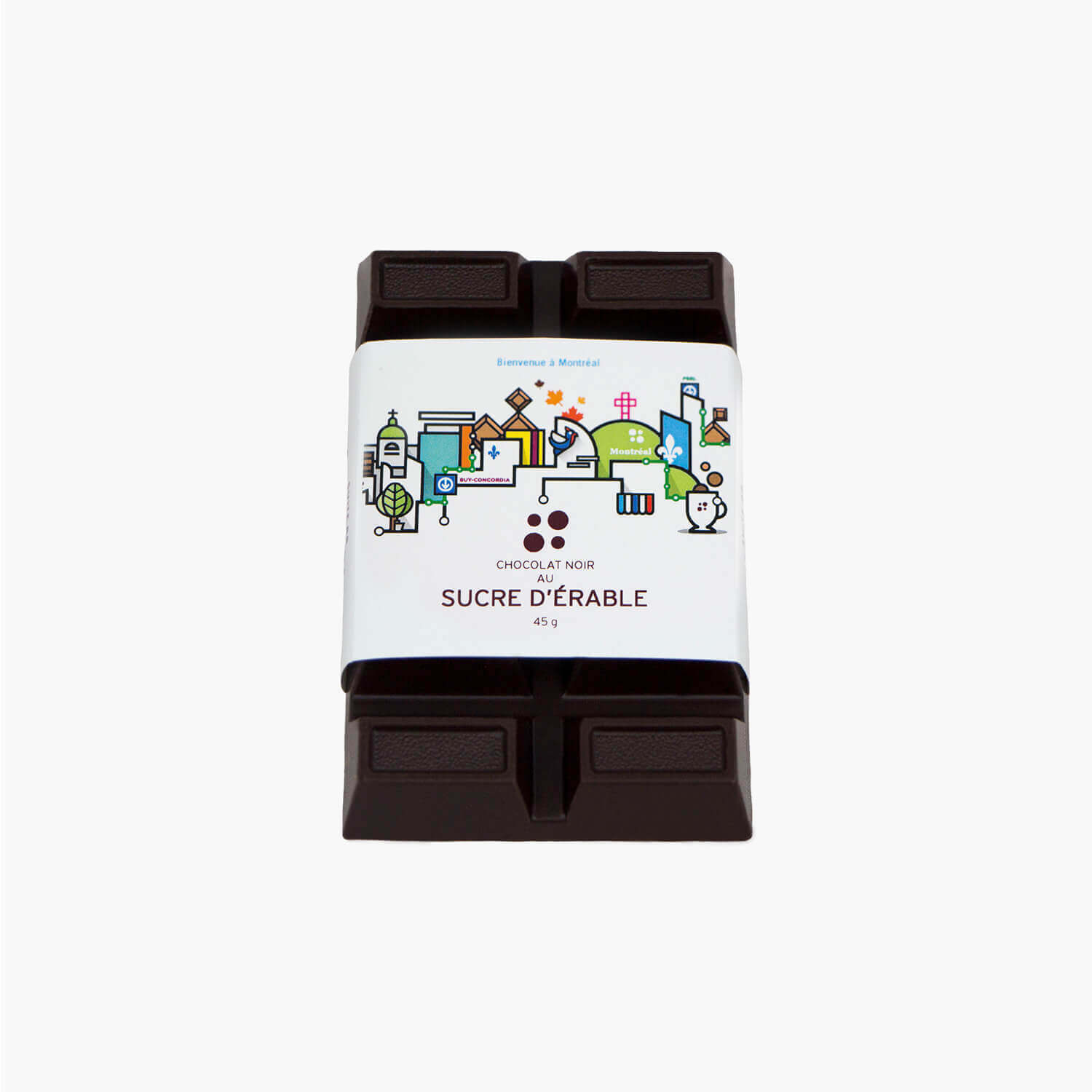 maple dark chocolate bar - souvenir label