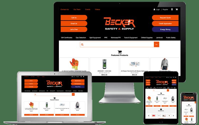 Customer Testimonials Slider - Becker Safety and Supply SuiteCommerce Advanced Web Store