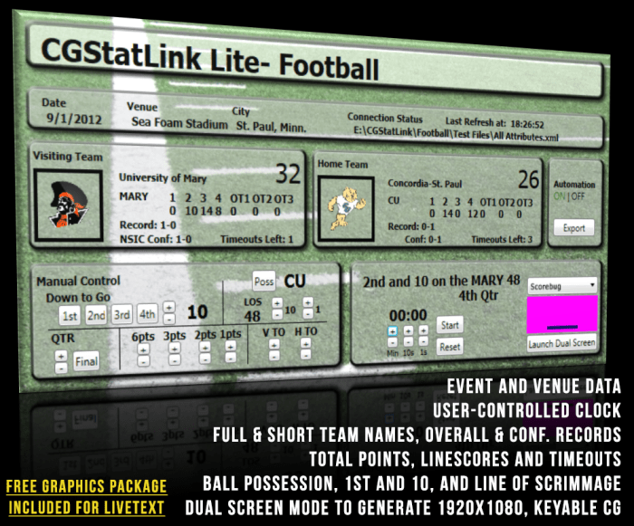 Product Header- Football Lite