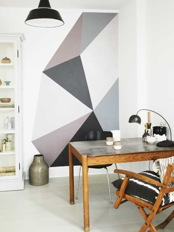 Feature wall using painter's tape