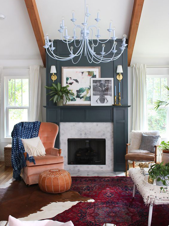 Image of living room styling from the White Buffalo Styling Company