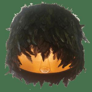hollis newton feather pendant lamp shade