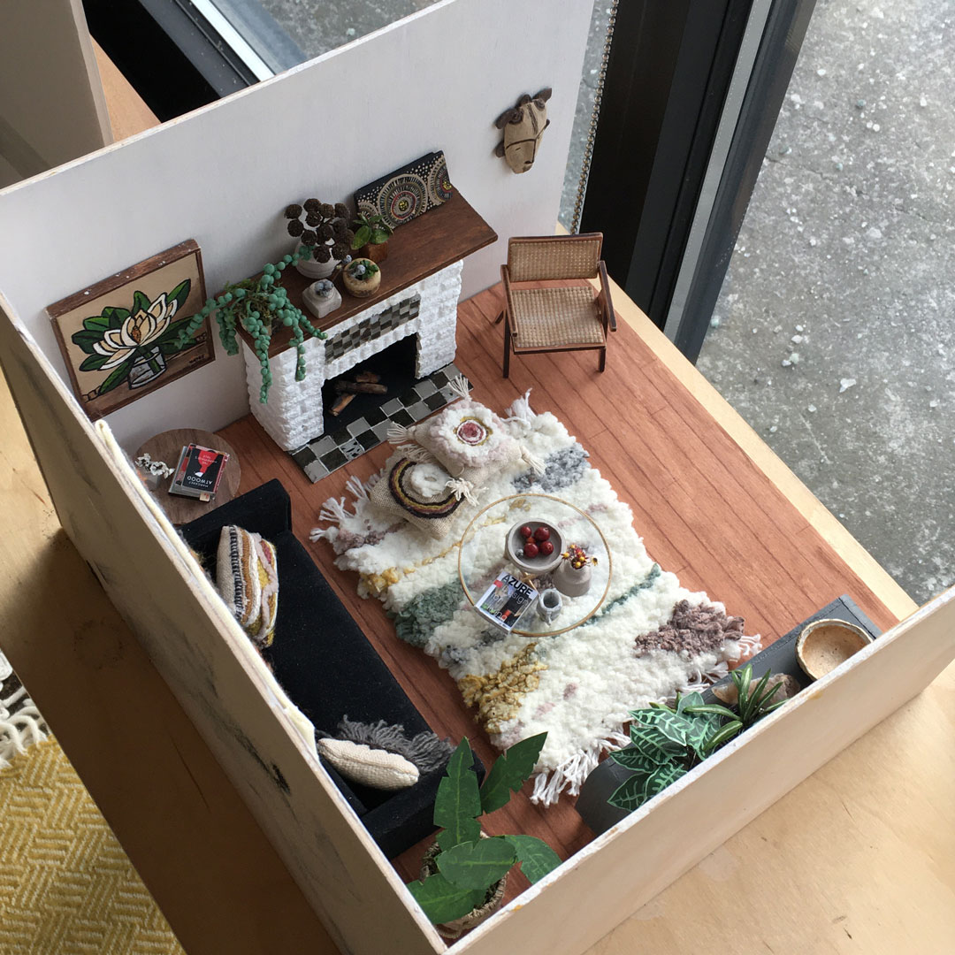 view from above of miniature diorama 1