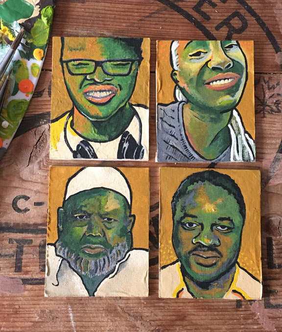 miniature portraits of d'andre campbell, regis korchinski-paquet, ejaz choudry and lester donaldson