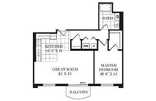 River 595 1 Bedroom