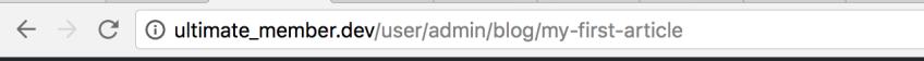 User Friendly URLs on Stories for Ultimate Member