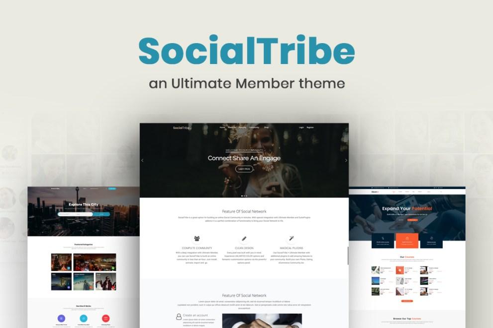 Meet SocialTribe, the Ultimate Member theme.