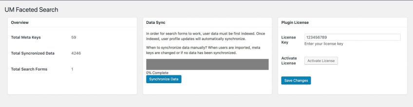 UM Faceted Search - Data Syncronization