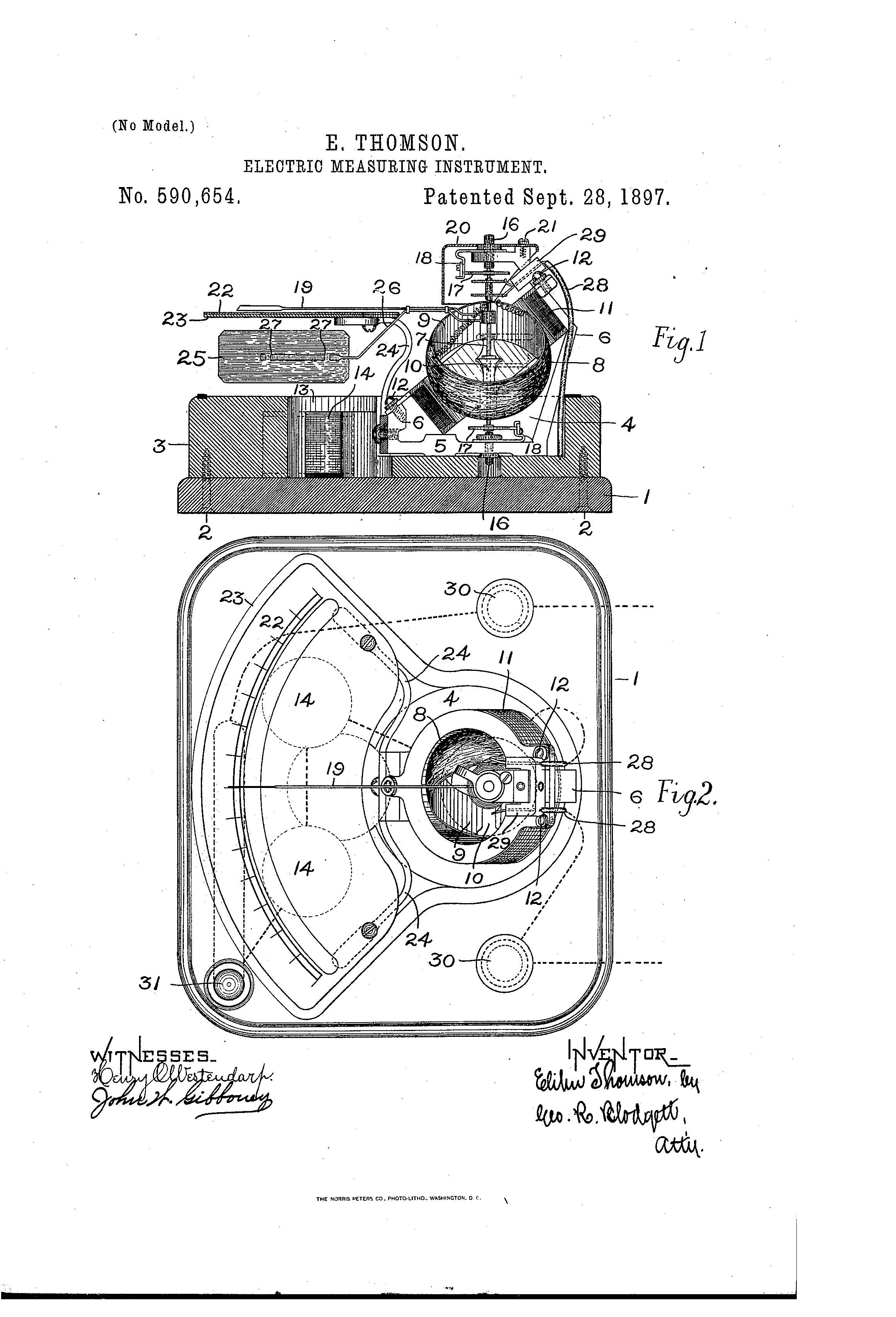 Patent Of The Day Electric Measuring Instrument