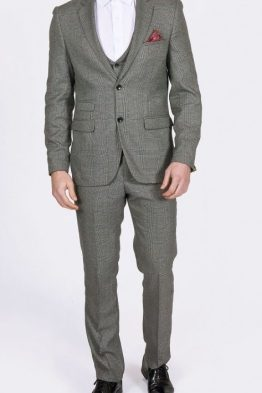 James Grey Tweed Check Three Piece Suit | Suits Distributors Cork