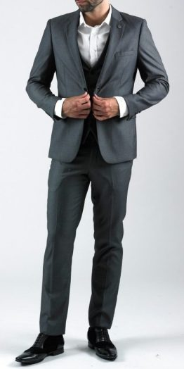Rambo Charcoal Grey Three Piece Notch Lapel Suit | Suits Distributors Cork