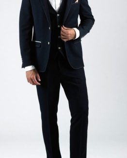 Will Navy Denim Look Three Piece Suit Suit Distributors Cork