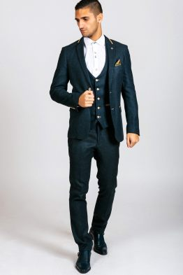 Glen Navy Tweed Three Piece Suit | Men's Suits Cork | Suits Distributors Cork