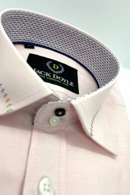 Cork - Jack Doyle Casual Pink Shirt With Trim 4