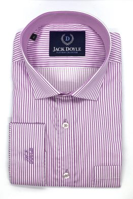 Jack Doyle Lilac Striped Shirt With Pocket 1