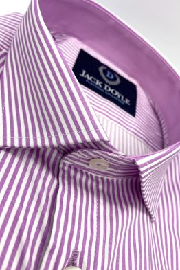 Jack Doyle Lilac Striped Shirt With Pocket 3