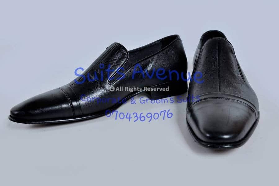 Black Leather Tuxedo Shoe