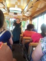 On the trolley tour, Savannah GA