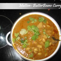 Mutton-Butterbeans Curry