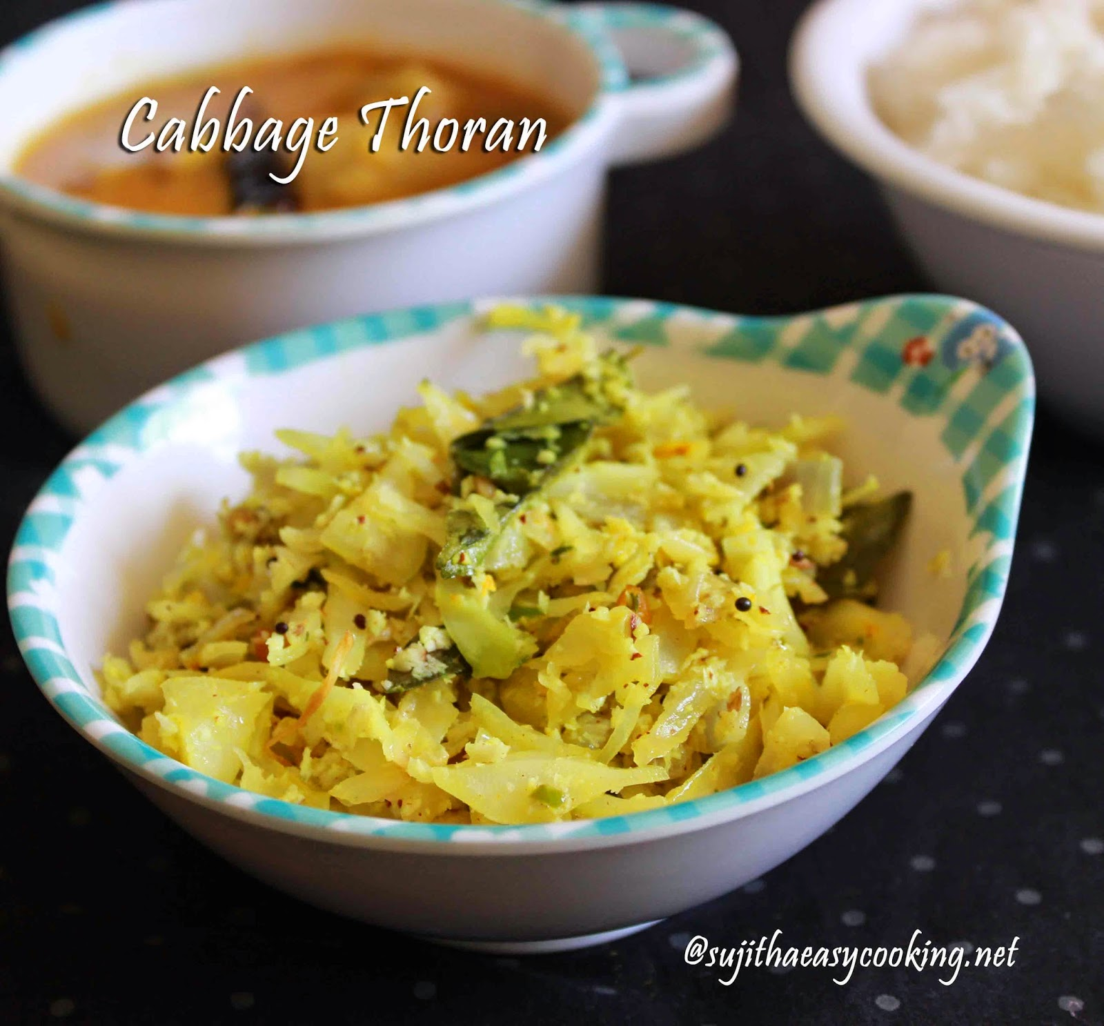 Cabbage Thoran/Cabbage Stir Fry/ Cabbage Poriyal