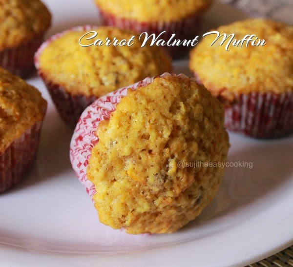 Carrot Walnut Muffin Cake