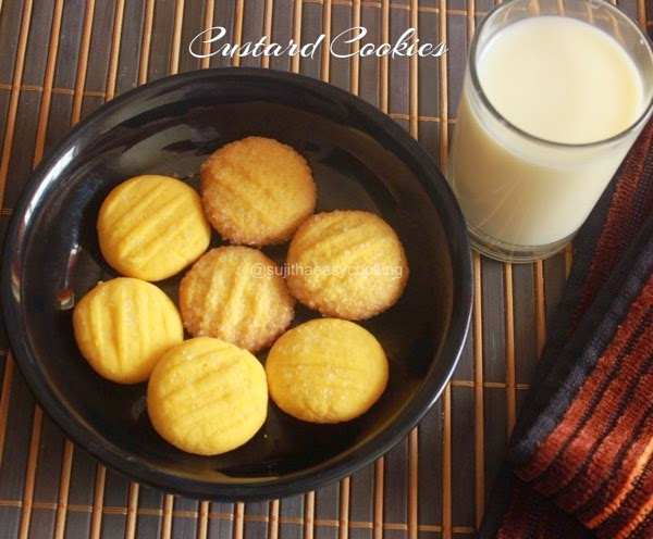 Custard Cookies/Eggless Custard Cookies