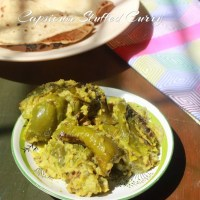 Capsicum Stuffed Curry/Uttar Karnataka Capsicum Stuffed Curry