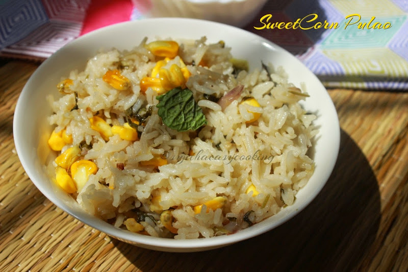 SweetCorn Pulao