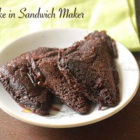 Cake in Sandwich Maker/Chocolate Cake in Sandwich Maker