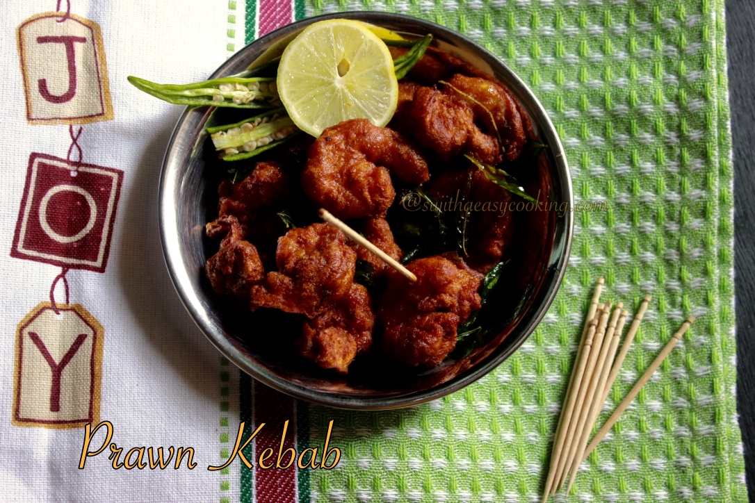 Prawn Kebab/ Prawn Kebab with Eastern Kebab Masala / Review on Eastern Kebab Masala