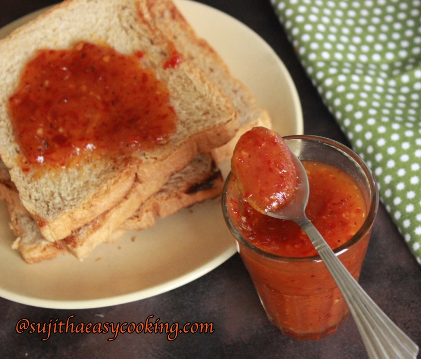 Hot and Sweet Apple Cinnamon Chutney/Sauce