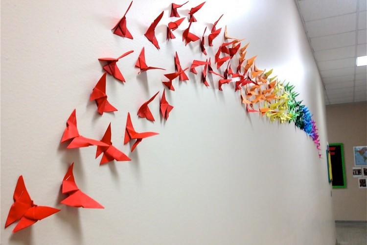 hiasan dinding dari kertas