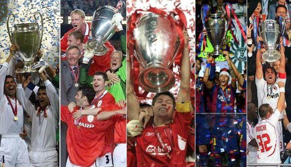 senarai pememang liga juara-juara