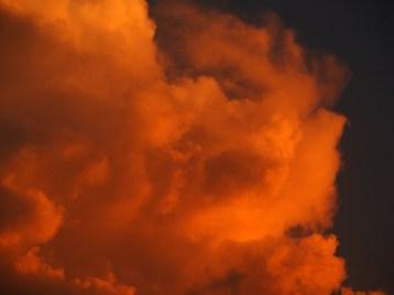 Fiery Orange Clouds