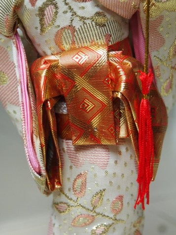The Obi sash from behind
