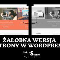 Strona WordPress w żałobie - żałobna wersja strony
