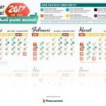 Kalender 2017 + Jadwal Puasa Sunnah   GRATIS