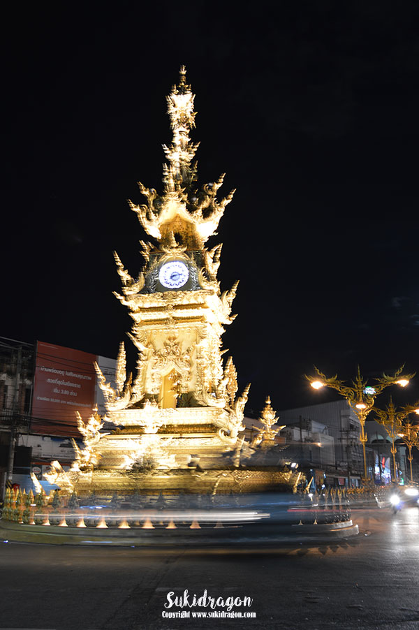 Chiang Rai's Golden Clocktower