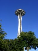 Looking up at the Space Needle, Seattle