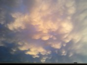 Mamatus cloud, sunset