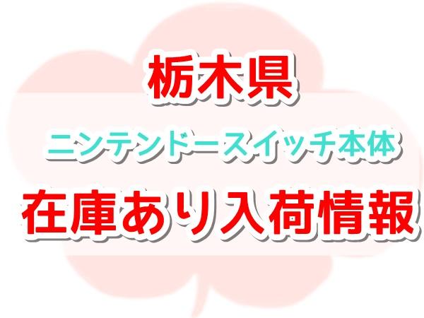ニンテンドースイッチ本体の在庫あり 栃木県の入荷情報まとめ【最新版
