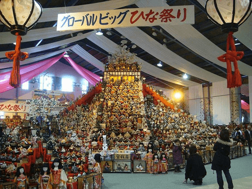 Big dolls festival in Japan