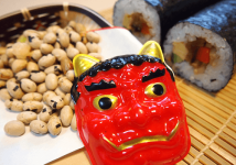 The Japanese throwing beans festival
