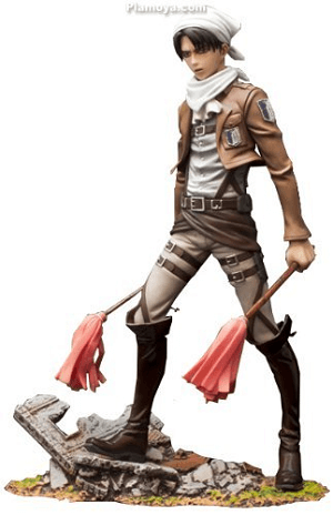 Attack on Titan Action Figure Cleaning Levi