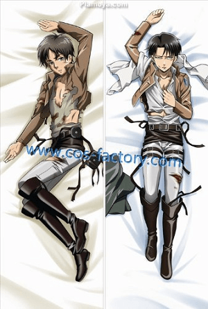 Levi and Eren Long Pillow Case